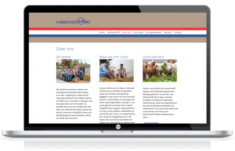 webdesign zwolle varkenslaptop